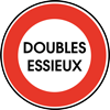 Forbidden to double axle vehicles