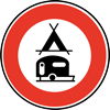 Forbidden to tents and caravans
